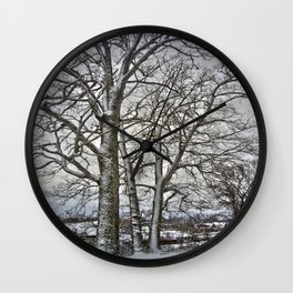Snow Trees Wall Clock
