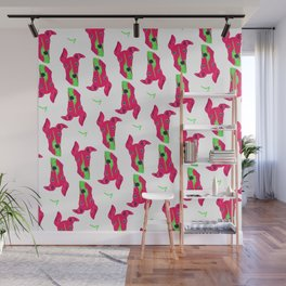 italian greyhound - wht pattern Wall Mural