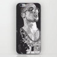 tyler spangler iPhone & iPod Skins featuring Tyler Durden by Rik Reimert
