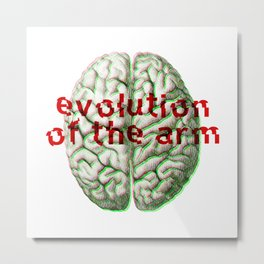 Evolution of the arm - Noise / Glitch Band Metal Print