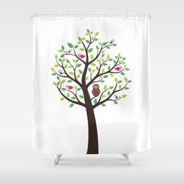 The bird tree guardian Shower Curtain