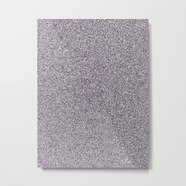 Melange - White and Dark Purple Metal Print