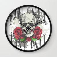 yolo Wall Clocks featuring YOLO by Danielle Beach