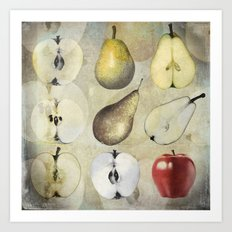 Fruit collage Art Print