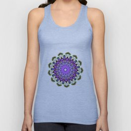 purple floral design Unisex Tank Top