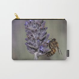 Bee on Lavender Carry-All Pouch
