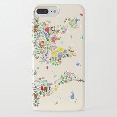 Animal Map of the World iPhone 7 Plus Slim Case