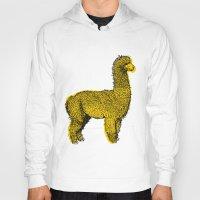 alpaca Hoodies featuring huacaya alpaca by youareconstance