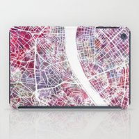 budapest iPad Cases featuring Budapest map by MapMapMaps.Watercolors