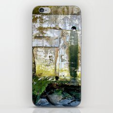 Facing the never ending power of the ocean iPhone Skin