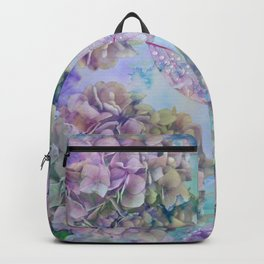 Watercolor hydrangeas and leaves Backpack