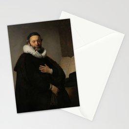 Johannes Wtenbogaert, Rembrandt van Rijn, 1633. Fine art. Stationery Cards