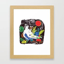 Summer Reading Framed Art Print