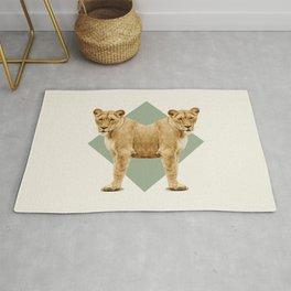 Double Animals: Lionesses Rug