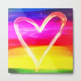Ray Of Heart Metal Print