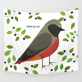 Common Redstart Wall Tapestry