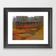 Cuppert's Covered Bridge Framed Art Print
