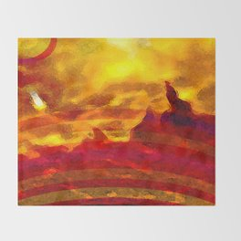 The Red Planet. Throw Blanket