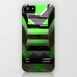 Puzzled Spirals [green] iPhone Case