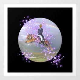 """""""We'll always have Barry"""" - Barack Obama on a Flying Tiger Art Print"""
