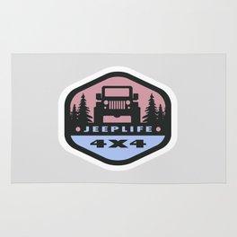 JEEPLIFE 'Pink+Blue' Rug