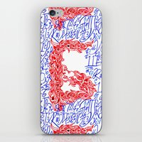 letters iPhone & iPod Skins featuring Letters by Olya Goloveshkina