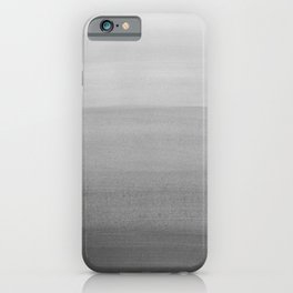 Touching Black Gray White Watercolor Abstract #2 #painting #decor #art #society6 iPhone Case