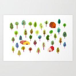 Spring Woods Art Print
