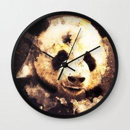 Panda Painting, Panda Mixed Media, Panda Bear, Panda Animal, Pandas Art, Panda Print, Best Panda Wall Clock