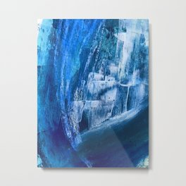 Cerulean [5]: a vibrant blue abstract with texture and layers Metal Print