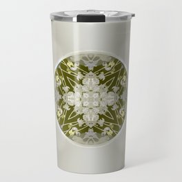 Vinyl Record Illusion in Sepia Travel Mug