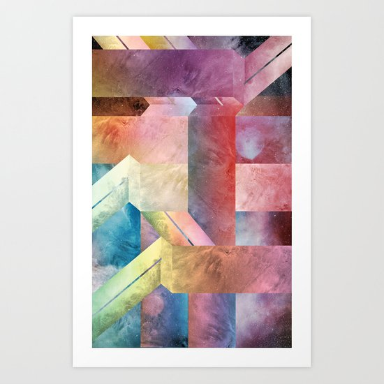 space hipster Art Print