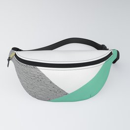 Concrete vs Aquamarine Geometry Fanny Pack