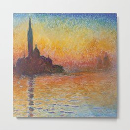 Claude Monet's San Giorgio Maggiore at Dusk Metal Print