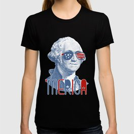 Merica George Washington graphic Patriotic 4th of July prints T-shirt