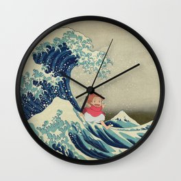Ponyo and the Great Wave Wall Clock