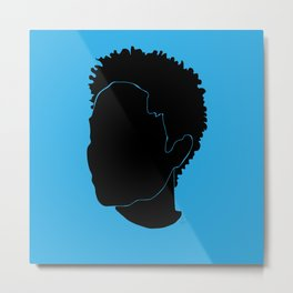 light blue Metal Print