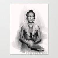 native american Canvas Prints featuring Native American by Bernardo Furlanetto