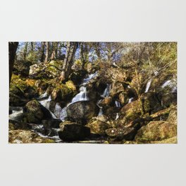 Becky Falls with texture Rug