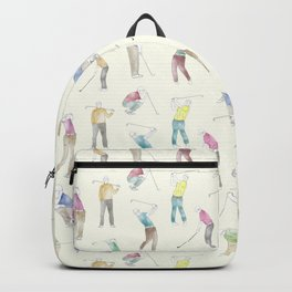 Watercolor Golfers // Ivory Backpack