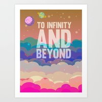 buzz lightyear Art Prints featuring to infinity and beyond.. toy story.. buzz lightyear by studiomarshallarts