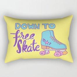 Down to Free Skate Rectangular Pillow