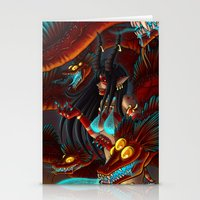 hydra Stationery Cards featuring Hydra Keeper by Studio-Aegis