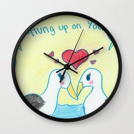 Hung Up On You Wall Clock