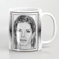 sandra dieckmann Mugs featuring Sandra Bullock in 2005 by JMcCombie