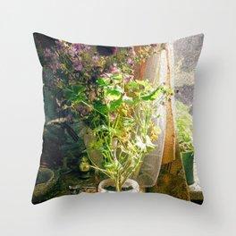Vintage Classic Flower Still Life Throw Pillow