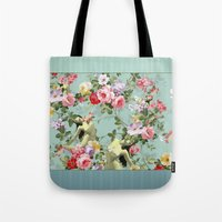 flora Tote Bags featuring Flora by mentalembellisher