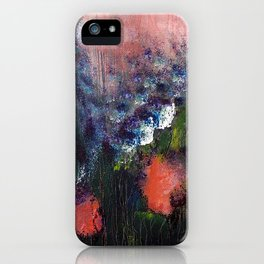 Poppy - Mixed Media Acrylic Abstract Modern Art, 2009 iPhone Case