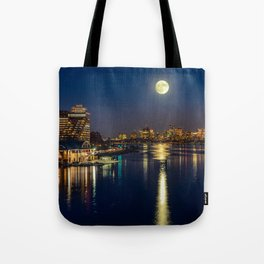 Moon light city of Boston Tote Bag