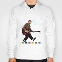 marty mcfly Hoodies featuring Marty McFly plays Guitar Hero by Akyanyme